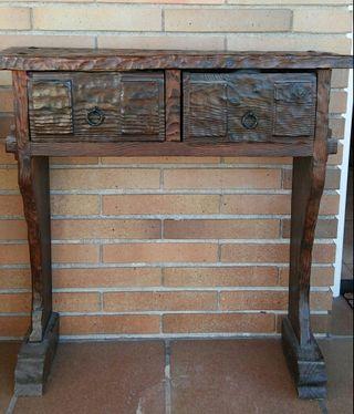 Mueble recibidor madera roble rustico de segunda mano - Mueble recibidor rustico ...