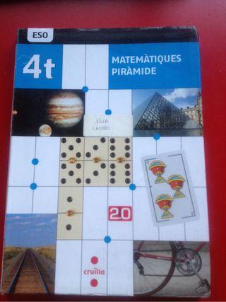 Llibre de matemàtiques 4tESO