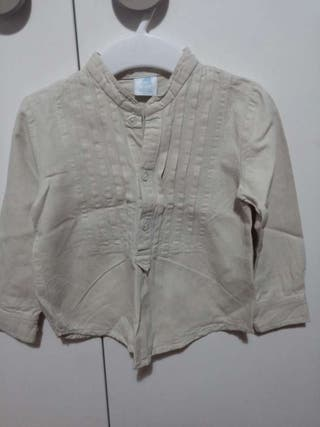 Camisa color beige talla 18