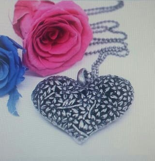Collar colgante corazon