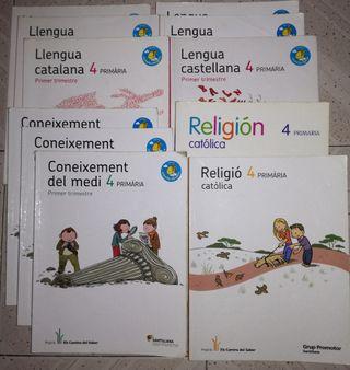 Libros Santillana 4 primaria, mochila ligera