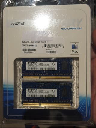 Memoria RAM MAC OSX 4gb