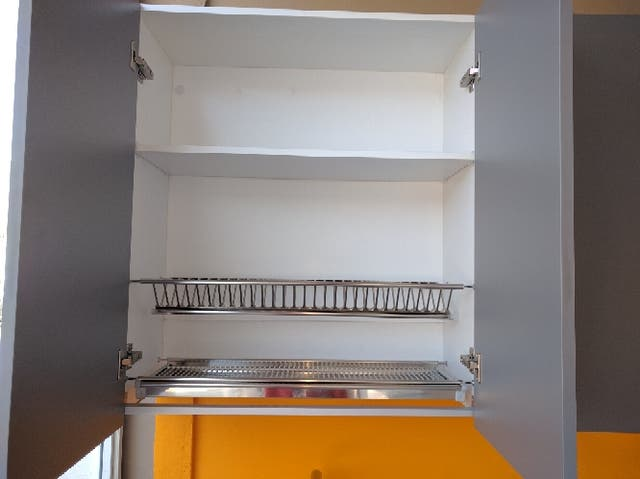 Juego escurreplatos acero inox para mueble de cocina