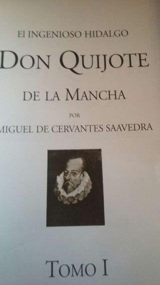 2 libros de don Quijote de la Mancha