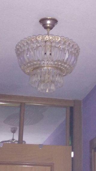 Juego de lámparas de cristal