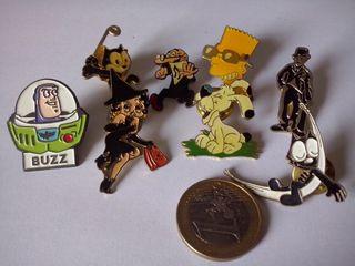 7 Pins personajes