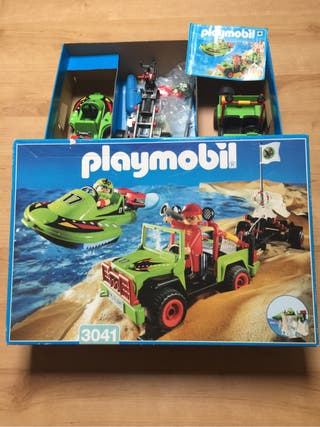 Playmobil ref 3041. Jeep y lancha