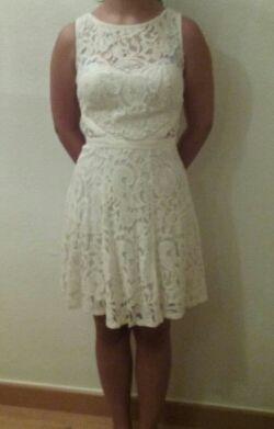 Vestido blanco talla S.