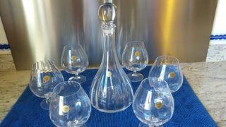 Conjunto cristal coñac