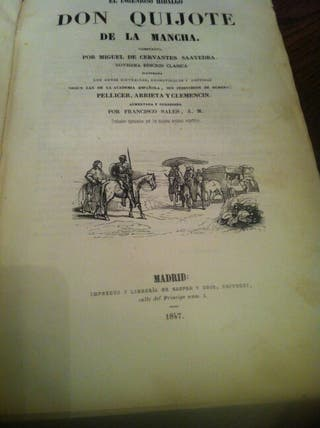 Libro Don Quijote de la Mancha 1847