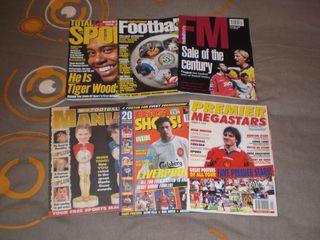 Lote revistas fútbol ingles