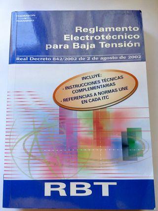 Libros reglamento Electrotécnico de baja y alta tension