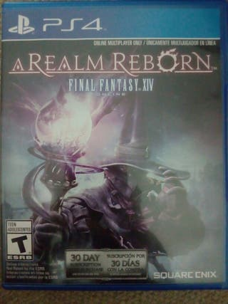 Cambio Final Fantasy XIV para ps4