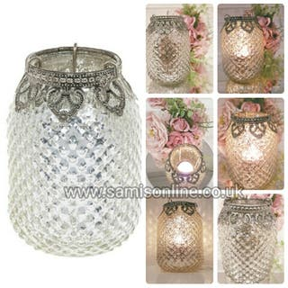 Vintage Moroccan Arabian Tea Light Lantern Candle Holder Contemporary Lace Shabby Chic