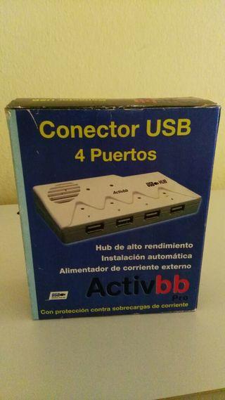 Conector USB 4 puertos