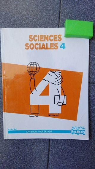 LIBRO DE SCIENCES SOCIALES CUARTO 4° PRIMARIA. Editorial Anaya. Educación bilingüe colegio Río Ebro. Ciencias sociales.