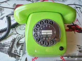 Teléfono retro antiguo vintage funciona