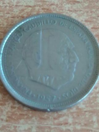 Moneda unica de 5 pesetas franco