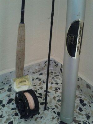 Caña de pescar cola de rata