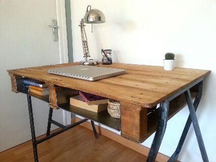 Mesa escritorio industrial chu de segunda mano por 170 - Escritorios segunda mano barcelona ...