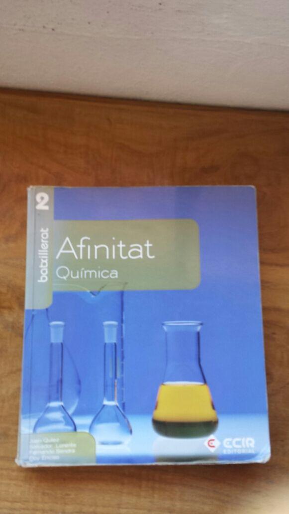 """Libro química """"Afinitat"""" segundo de bachillerato"""