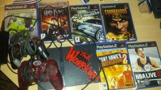 PS2 + 2 mandos y mas de 22 juegos