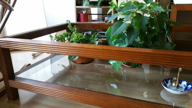 Mesa Centro de sala de madera o jardinera