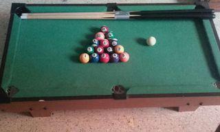 Billar de mesa pequeño tamaño