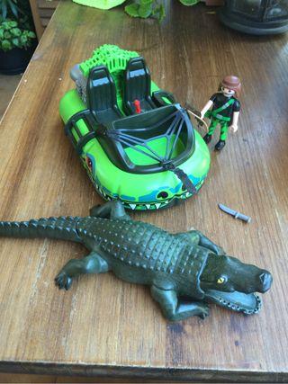 Playmobil lancha lago