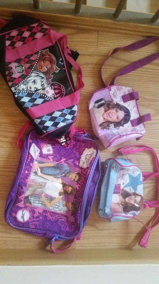 Lote bolsos infantiles monster y Violetta