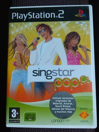 Juego play 2. Sing start pop