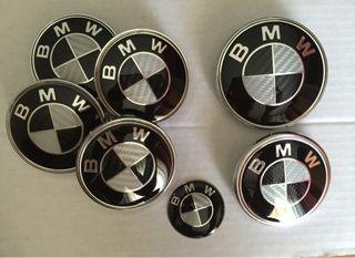 KIT de 7 tapas BMW negro carbono