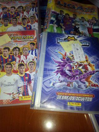 Lote albums de cromos de futbol
