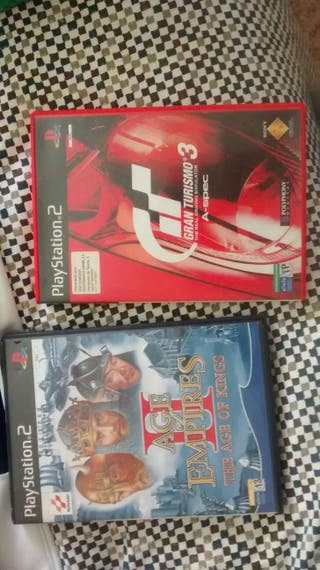 Gran turismo 3 y age of empires 2 para Ps2