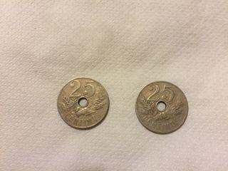 25 céntimos año 1927
