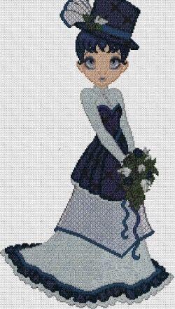 "Bordado ""dama azul"""