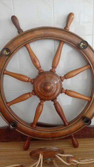 Lámpara vintage timón barco