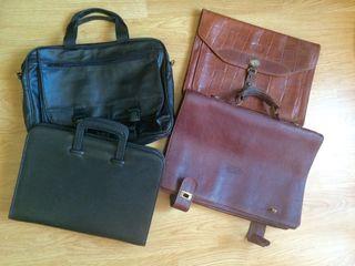 Portadocumentos, bolsa portatil cuero