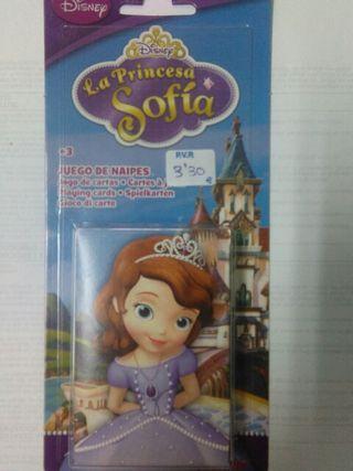 Juego de cartas princesa sofia
