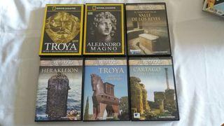 6 DVD Documentales Historia Antigua