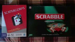Scattergories y Scrabble
