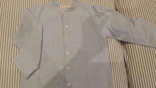 Camisa niño talla 4 gocco azul clara