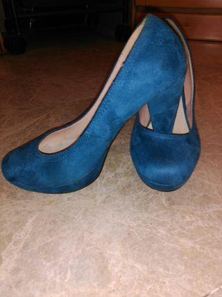 Zapatos terciopelo, n@ 37 o 38