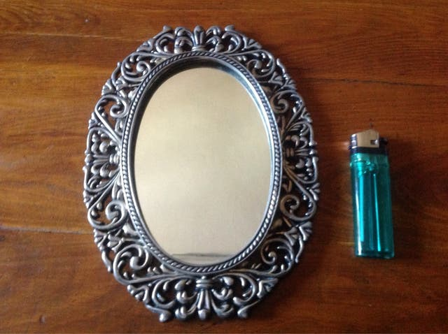 Espejo con marco plateado de segunda mano por 10 en gij n en wallapop - Espejos marco plateado ...