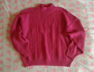 Jersey vintage fucsia oversize M