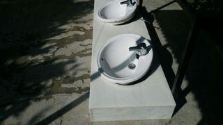 Lavabos con encimera de marmol