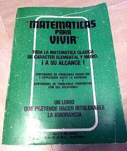 Libro Matemáticas para vivir.
