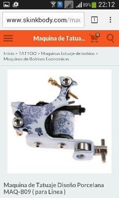 maquina de tatuaje bobina diseño porcelana