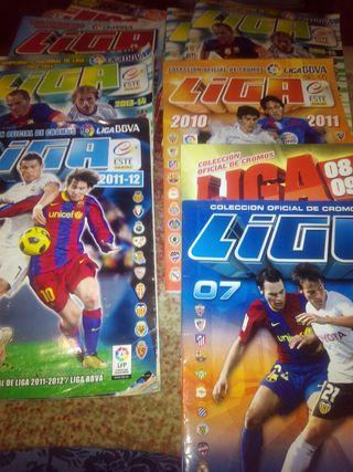 Albumes Liga Este varios años