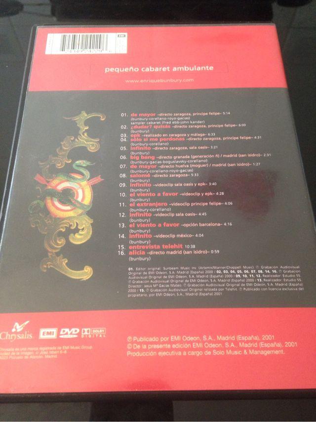 "DVD Enrique Bunbury ""Pequeño Cabaret Ambulante"""